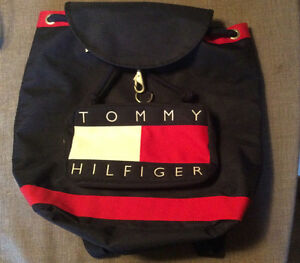 Tommy Hilfiger Canvas Backpack with Drawstrings, Never Used