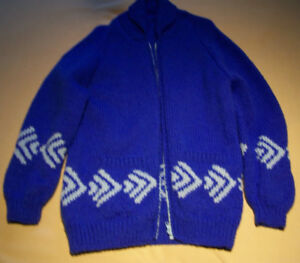 Knitted Sweater (Home Made) Royal Blue