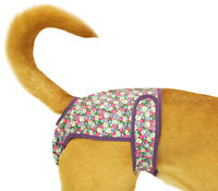 Washable Dog Diaper, Fits Toy Dogs, Pink Flowers