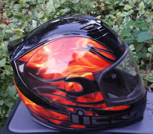 ICON Airframe Inferna Helmet Orange Flame