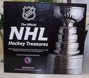 The Official NHL Hockey Treasures Hardcover Book