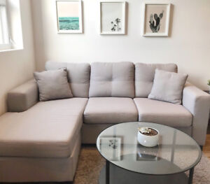 Light Grey Sectional (left or right)