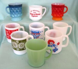 AU CHOIX NEUF TASSES FIRE-KING  LOT of NINE MUGS /YOUR CHOICE