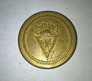 vintage brass CNE admission coin London Ontario image 1