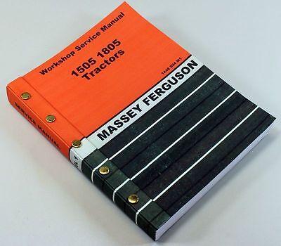 Massey Ferguson 1505 Tractor Service Repair Shop Manual Technical Workshop