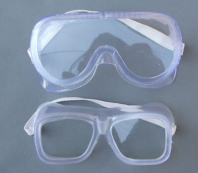 Eye Protection Protective Lab Anti Fog Clear Goggles Glasses Vented Safety St