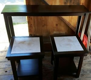 New Custom Made Sofa Table and 2 End Tables