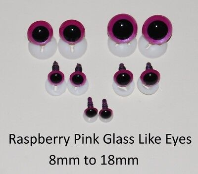 GLASS LIKE EYES - PLASTIC BACKS Teddy Bear Making Soft Toy Doll Animal Craft  - 3