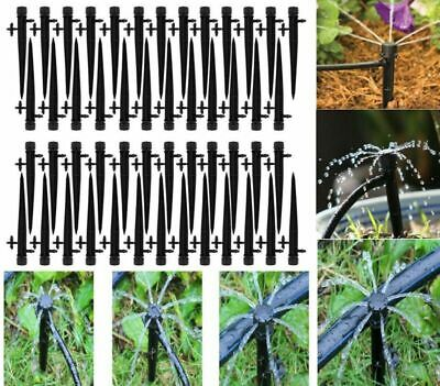 Drip Water (50Pcs Adjustable Water Flow Irrigation Drippers Stake Emitter Drip Sprinklers)