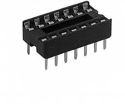 20x 14 Pin Dip Ic Sockets Adaptor Solder Type Socket 2.54mm Ew