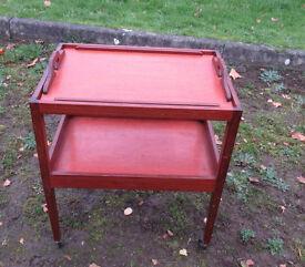 mahogany trolly table
