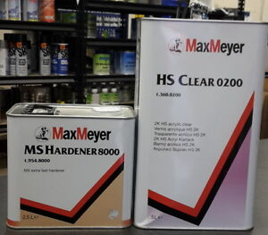 Max Meyer 0200 2K Clear Coat Car Lacquer 7.5ltr Kit with 8000 hardener
