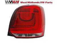 VW POLO 6R 2009 - 2014 REAR DRIVER SIDE LIGHT CLUSTER W/O BULB HOLDER 6R0945096A