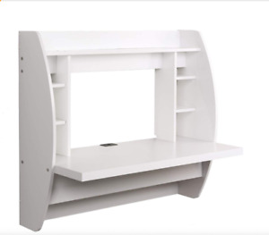 White Floating Desk in GREAT condition