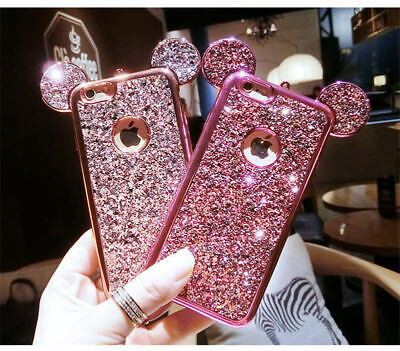 Luxury Bling Mickey Mouse Phone Case Cover for iPhone X Xs MAX XR 5 6S 7 8 Plus