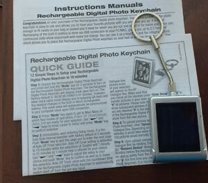 Rechargeable Digital Photo Keychain