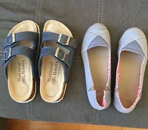 New Roots sandals size 5. New crocs size 6