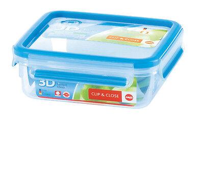 Emsa Clip&Close 3D Perf Clean Almacenamiento Alimentos Contenedor Brotbox 0,85L