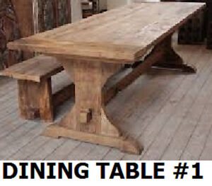 QUALITY HAND CRAFTED DINING TABLES