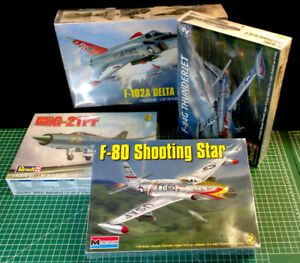 1/48 LOT of four Revell Jet model kits - New and Sealed