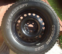 4 Matercraft Courser MSR Winter tires and rims