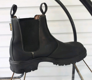 Terra Mens Black Leather Boots