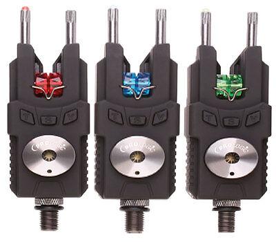 Prologic NEW SMX Set of 3 Alarms + Receiver Carp Bite Indicator & Carry Case