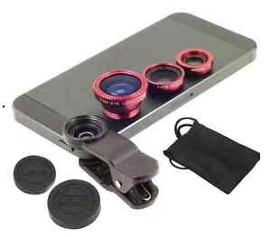 3 in 1 Photo Universal Lens - Clip On Wide Angle & Fish Eye
