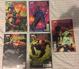 Uncanny Avengers issues 1 - 4 plus Annual issue