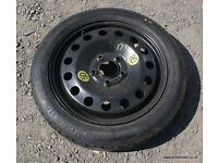 """BMW E60 E90 M Sport 17"""" Spacesaver Spare Wheel Tyre Kit Package 330d 330i 335d 530d 525d"""