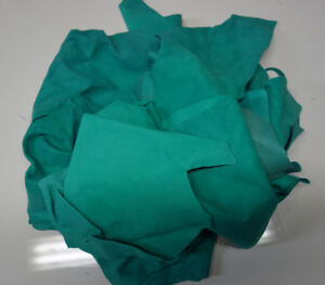Green Leather Scraps For Crafting