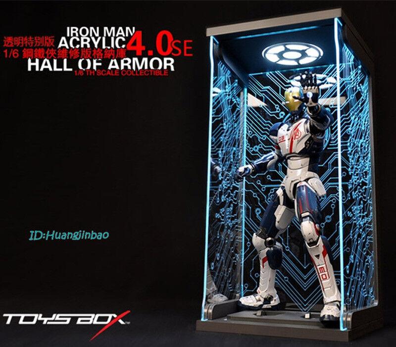 TOYS-BOX 1//6 Iron Man Hangar 4.0 mk4 Box Closed Dust-proof Figure Toy Display