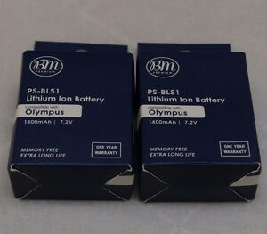 2X BLS-1 BLS-5 Replacement Batteries For Olympus