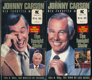 Johnny Carson His Favorite Moments 70's-80's & 80's-90's VHS NEW