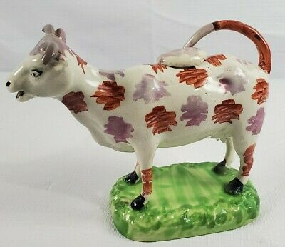 Measure 3.5 Tall Excellent Condition Very Cute Collectible Vintage Cow Salt and Pepper Shaker Sitting with Red Bell and Little Horns