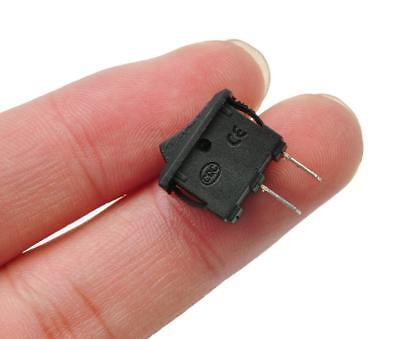 3x Rocker Switch Switches 2-pin Black Onoff Small Mini 3a 12v-250v Acdc