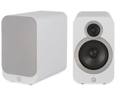 Q Acoustics 3020i Bookshelf Speakers Arctic White. RRP: £225