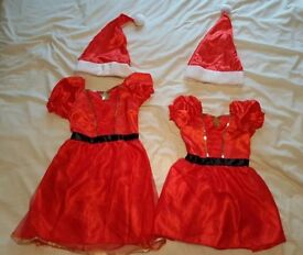 Miss Santa Claus Dress up oufits age 3-5yrs and 7-8yrs