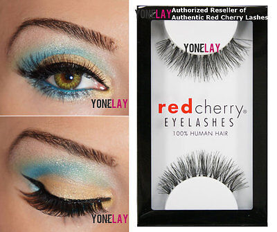Lot 6 Pairs GENUINE RED CHERRY #415 Ivy False Eyelashes Human Hair Fake - Red Fake Eyelashes