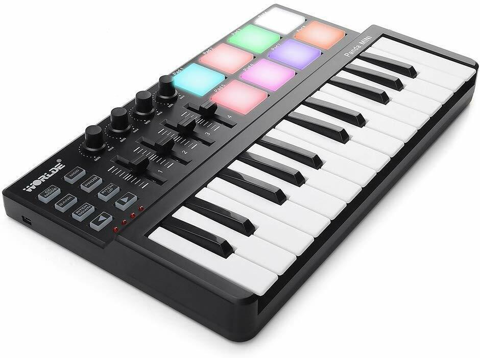 MIDI Controller Beat Maker DJ Keyboard Piano 25 Keys USB Dru