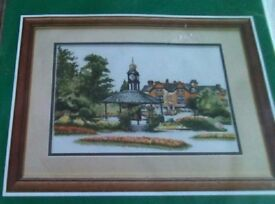 New counted cross stitch kit by the Craft Collection. Picture is of Matlock with gardens.
