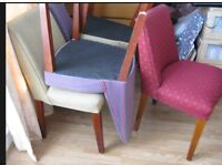 4 x dining chairs with wooden legs