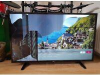 Broken screen - 43 inch LG 4K HDR TV - spares and repairs