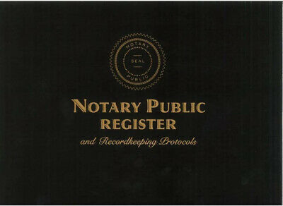 Notary Public Register Recordkeeping Protocols New Notary Journal Notary Book