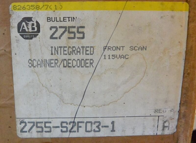 Allen Bradley 2755-s2f03-1 Series A Integrated Front Scanner Decoder New