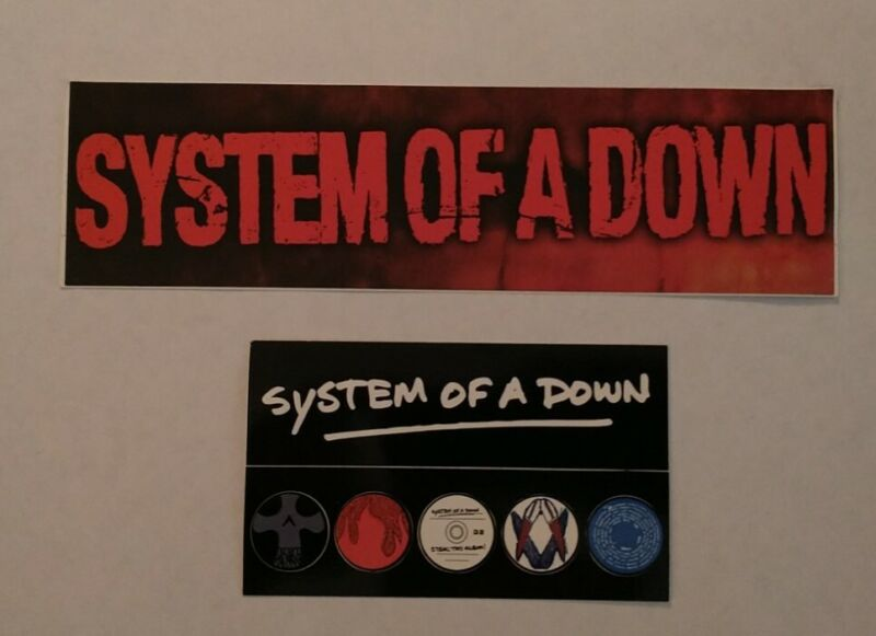 Lot Of 2 System Of A Down Promo Stickers Steal This Album 2002 Rock Metal Rare