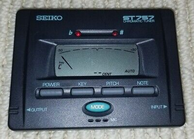 Seiko ST757 Chromatic Music Digital LCD Tuner Guitar Bass Electric Acoustic