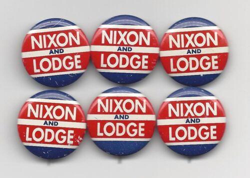 Richard Nixon Henry Cabot Lodge 1960 (R) Presidential political pin button lot
