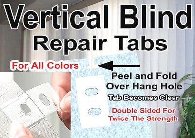 20 PACK! VERTICAL BLIND ⭐ #1 ADHESIVE REPAIR TABS ⭐ SLAT VANE STEM REPLACE SAVER