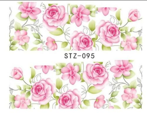 Nagelsticker Tattoo Blumen Rosen Flowers Rose Sticker Fingernagel Nail Wraps